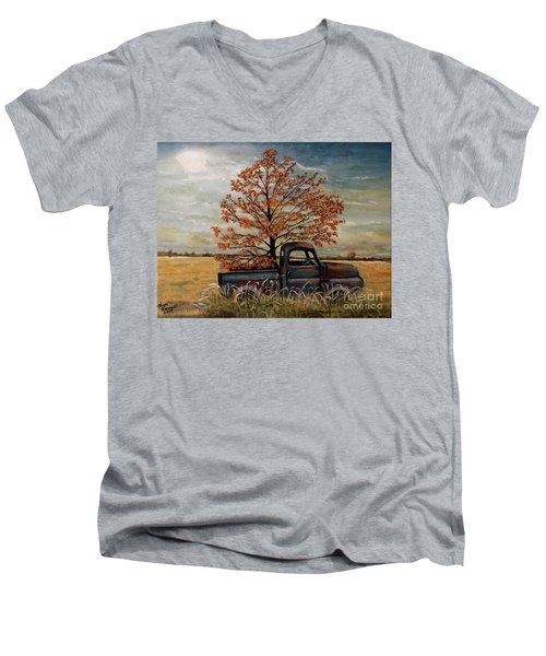 Field Ornaments Men's V-Neck T-Shirt by Judy Kirouac