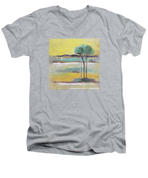 Standing In Distance Men's V-Neck T-Shirt by Becky Kim