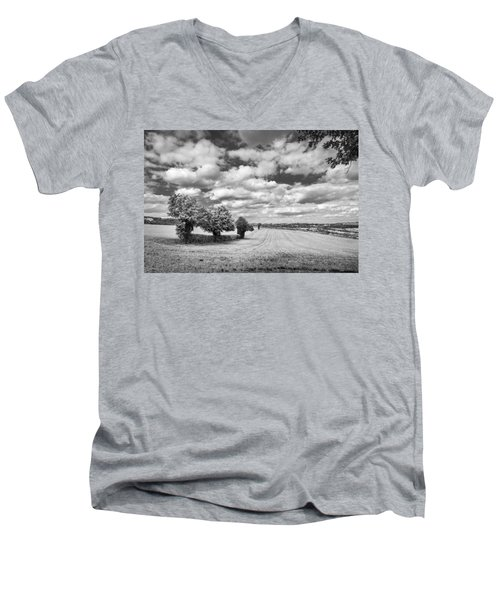 Fields And Clouds Men's V-Neck T-Shirt