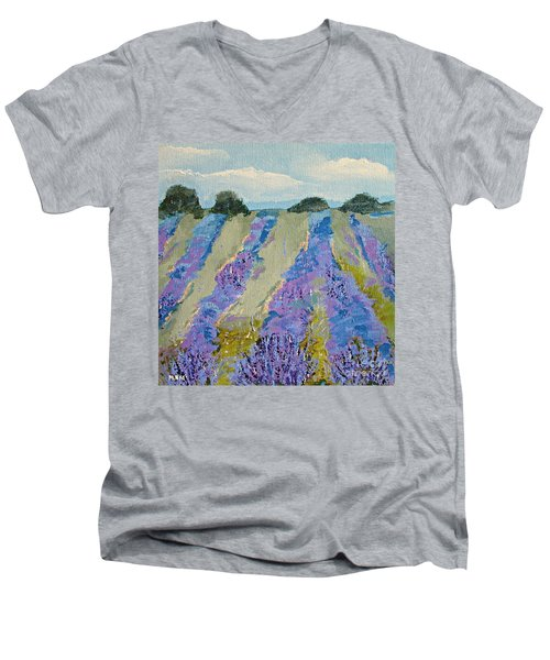 Fields Of Lavender Men's V-Neck T-Shirt