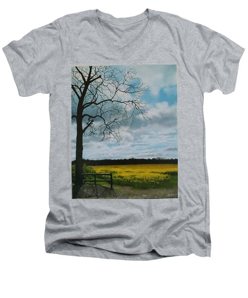 Fields Of Yellow Men's V-Neck T-Shirt