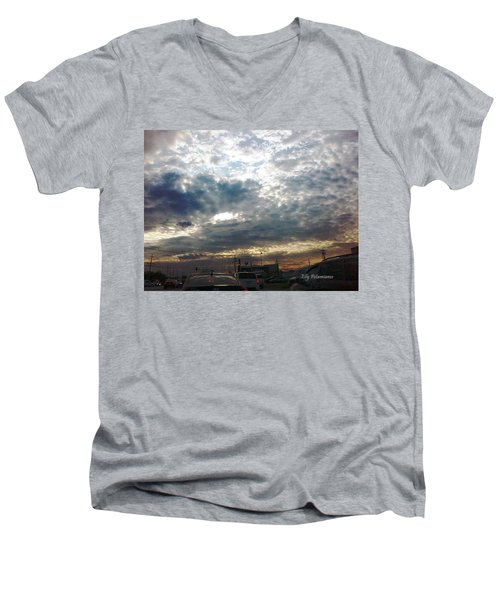 Fierce Skies Men's V-Neck T-Shirt