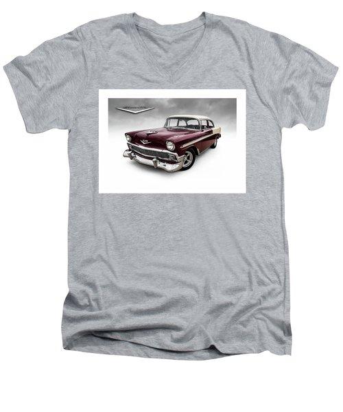 Fifty-six Chevy Men's V-Neck T-Shirt