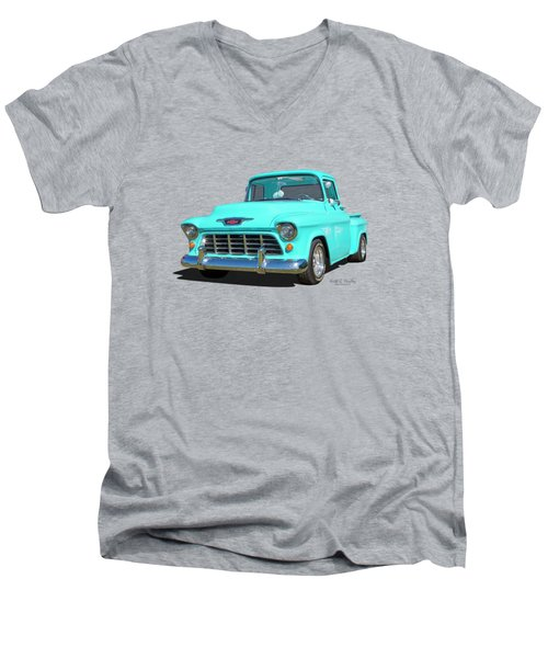 Fifty5 Stepside Pickup Men's V-Neck T-Shirt