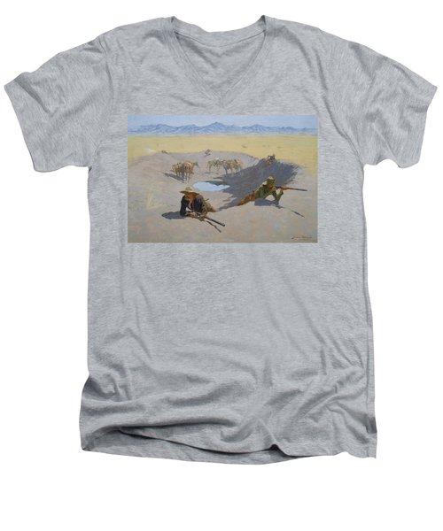 Fight For The Waterhole Men's V-Neck T-Shirt