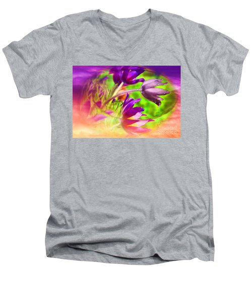 Fighting Circumstances Men's V-Neck T-Shirt by Cathy  Beharriell