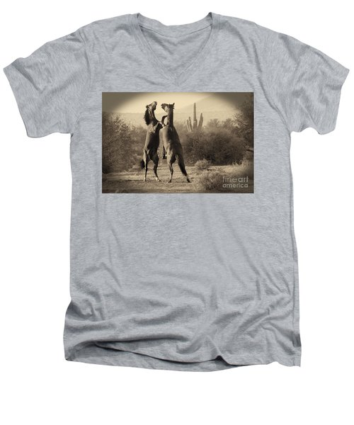 Fighting Stallions Men's V-Neck T-Shirt