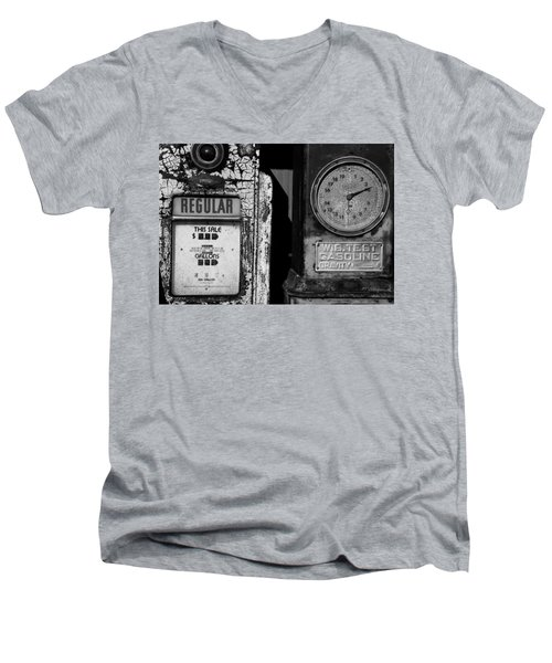 Men's V-Neck T-Shirt featuring the photograph Fill Er Up by Michael Nowotny