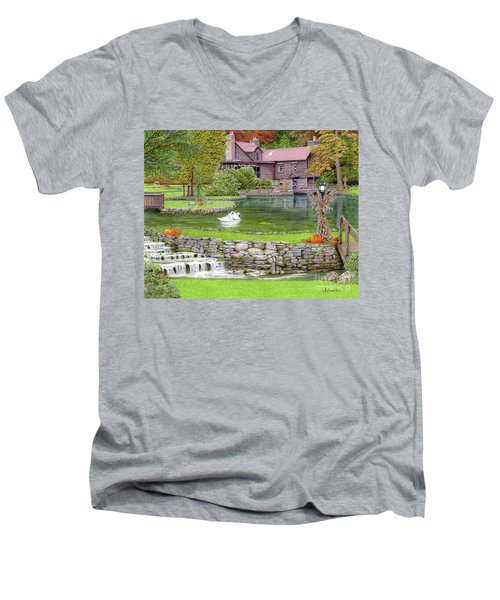 Fin N Feather At Seven Springs Men's V-Neck T-Shirt