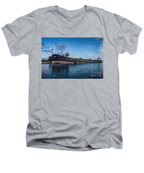 Final Mooring For The Algoma Transfer Men's V-Neck T-Shirt