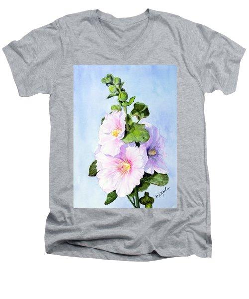 Finally Hollyhocks Men's V-Neck T-Shirt