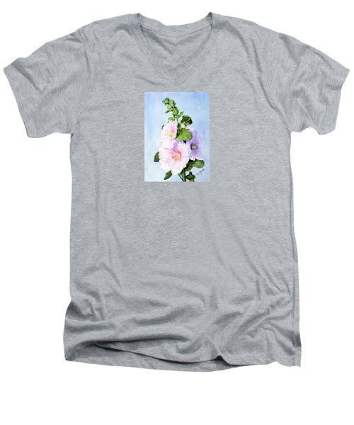 Finally Hollyhocks Men's V-Neck T-Shirt