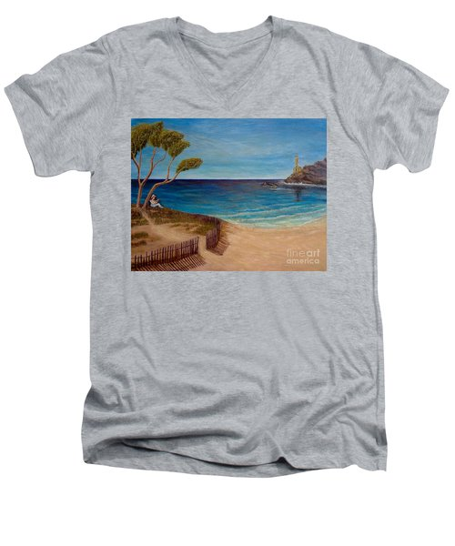 Finding My Special Place In The Summertime  Men's V-Neck T-Shirt by Kimberlee Baxter