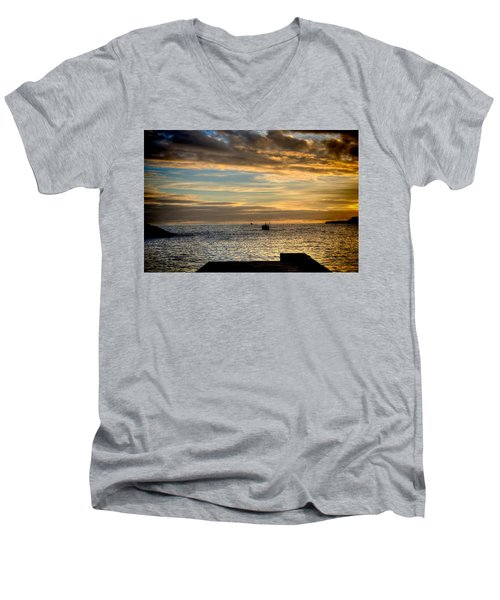 Fine Art Colour-138 Men's V-Neck T-Shirt
