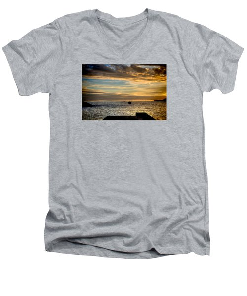 Fine Art Colour-138 Men's V-Neck T-Shirt