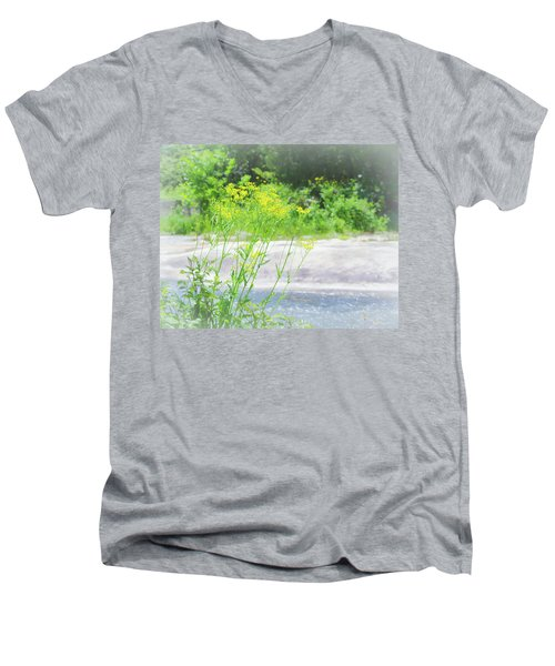 Fine Creek No. 2 Men's V-Neck T-Shirt by Laura DAddona