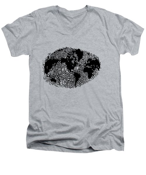 fingerprint 20X30 Men's V-Neck T-Shirt