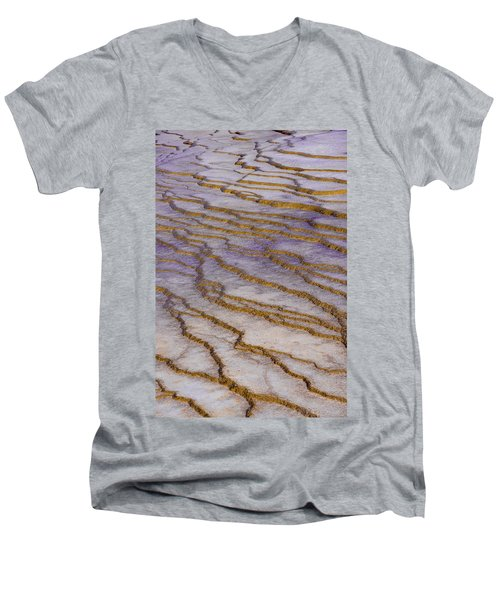 Fingerprint Of The Earth Men's V-Neck T-Shirt