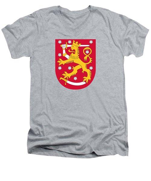 Finland Coat Of Arms Men's V-Neck T-Shirt
