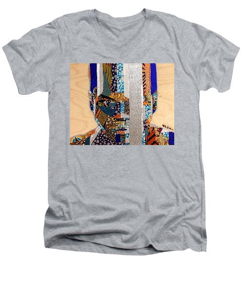 Finn Star Wars Awakens Afrofuturist  Men's V-Neck T-Shirt by Apanaki Temitayo M