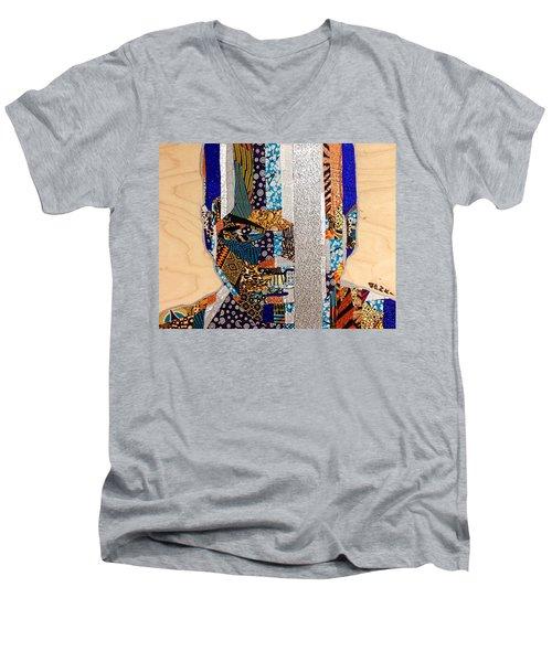 Finn Star Wars Awakens Afrofuturist  Men's V-Neck T-Shirt