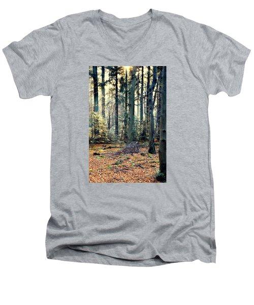 Fir Forest-2 Men's V-Neck T-Shirt by Henryk Gorecki