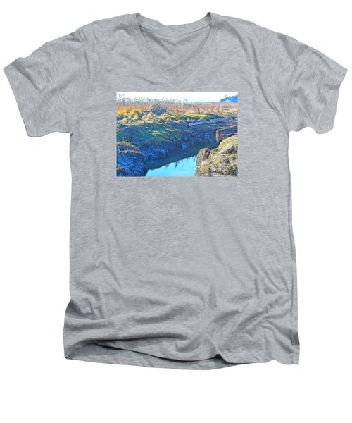 Fir Island November Men's V-Neck T-Shirt