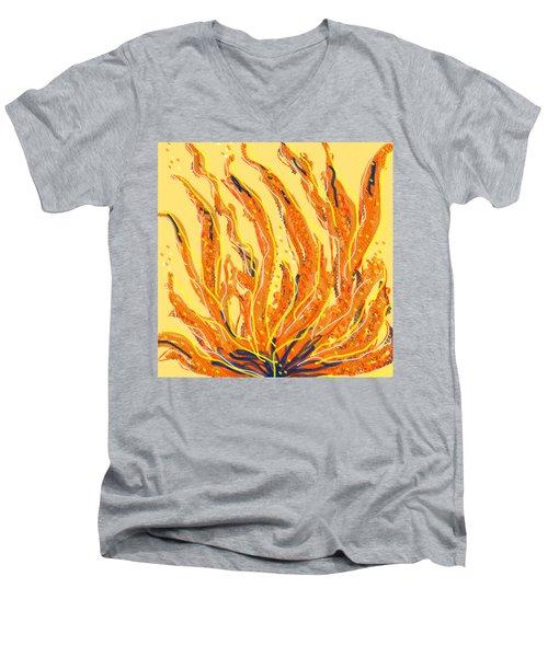 Fire Men's V-Neck T-Shirt