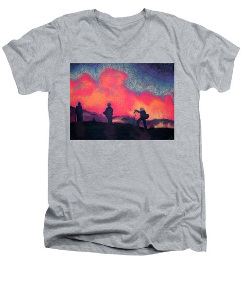 Fire Crew Men's V-Neck T-Shirt by Joshua Morton