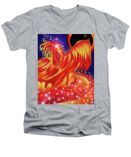 Fire Fairy Men's V-Neck T-Shirt