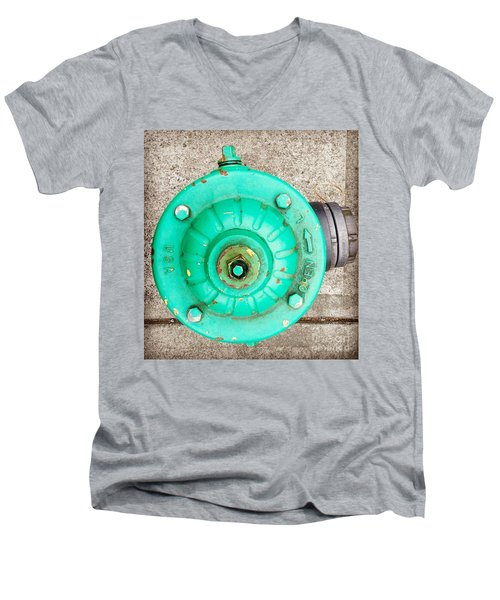 Fire Hydrant #6 Men's V-Neck T-Shirt by Suzanne Lorenz