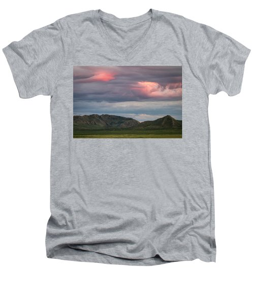 Glow In Clouds Men's V-Neck T-Shirt by Hitendra SINKAR