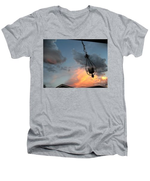 Fire In The Clouds Men's V-Neck T-Shirt