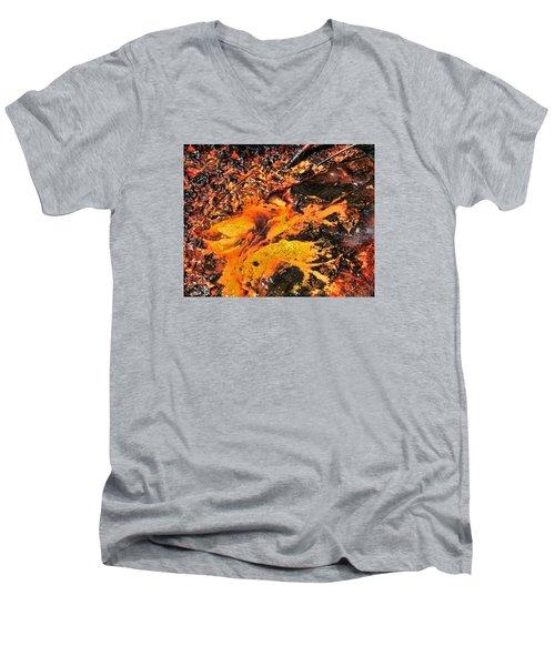 Fire Men's V-Neck T-Shirt by John Bushnell