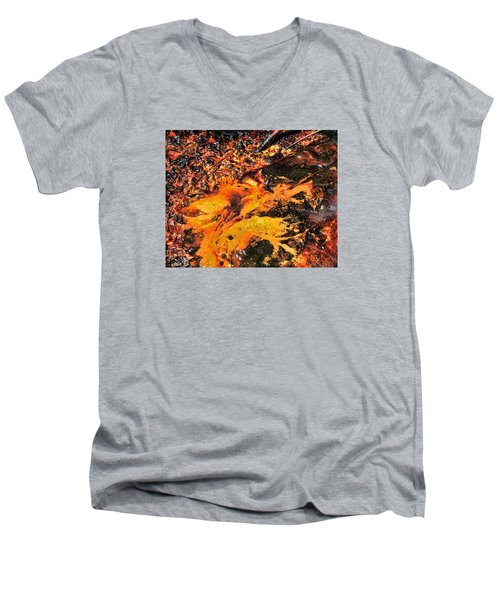 Fire Men's V-Neck T-Shirt