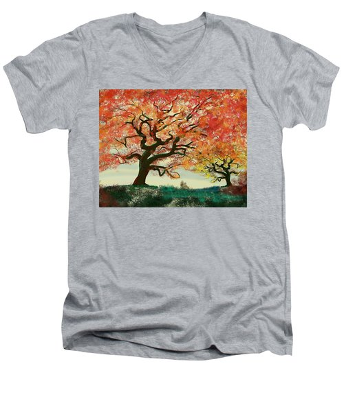 Fire Tree Men's V-Neck T-Shirt