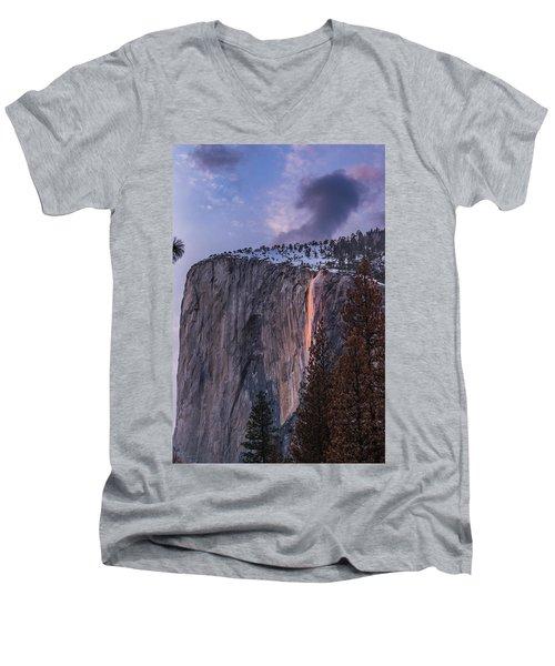 Firefall Men's V-Neck T-Shirt by Alpha Wanderlust
