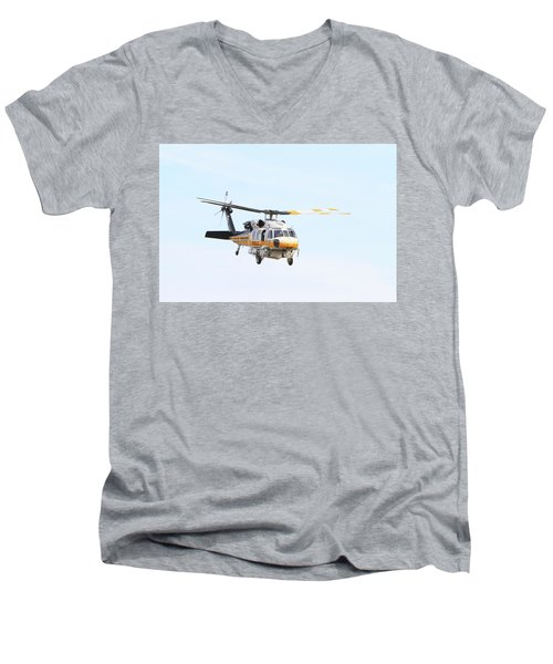 Firehawk In Flight Men's V-Neck T-Shirt by Shoal Hollingsworth