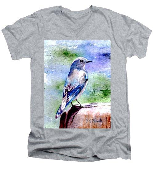 Firehole Bridge Bluebird - Female Men's V-Neck T-Shirt