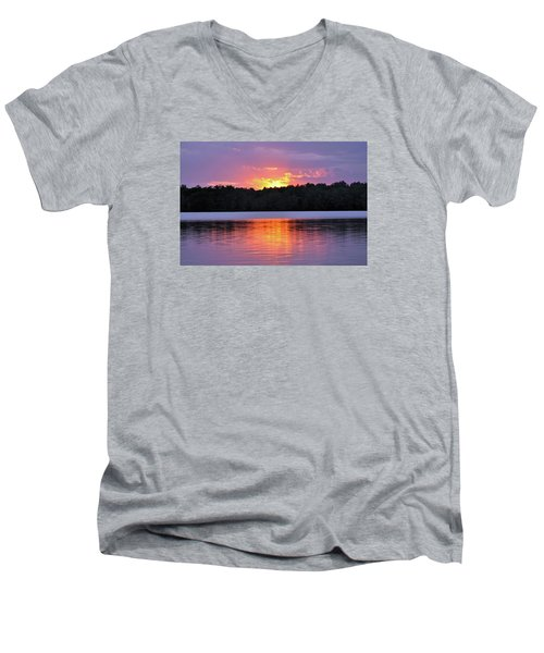 Men's V-Neck T-Shirt featuring the photograph Sunsets by Glenn Gordon