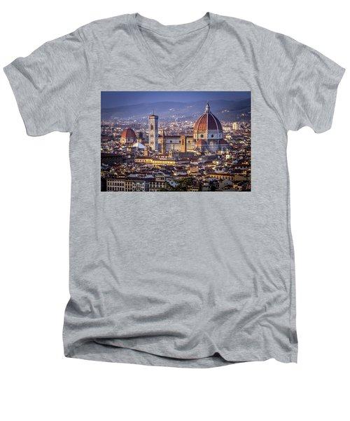 Firenze E Il Duomo Men's V-Neck T-Shirt