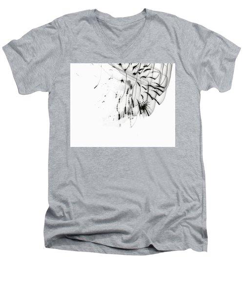 Firework Abstract 5 Men's V-Neck T-Shirt