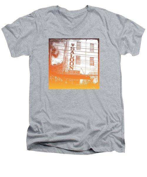 First Bar In Texas For A Woman Men's V-Neck T-Shirt by Carolina Liechtenstein