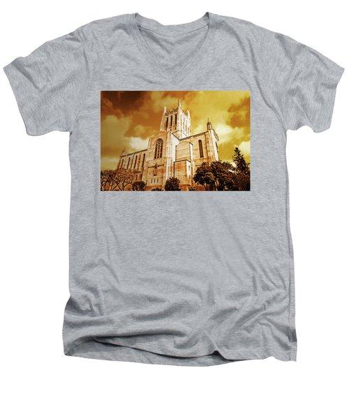 First Congregational Church  Men's V-Neck T-Shirt