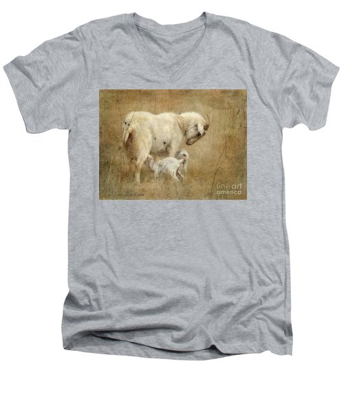 First Day Of Life Men's V-Neck T-Shirt by Kathy Russell