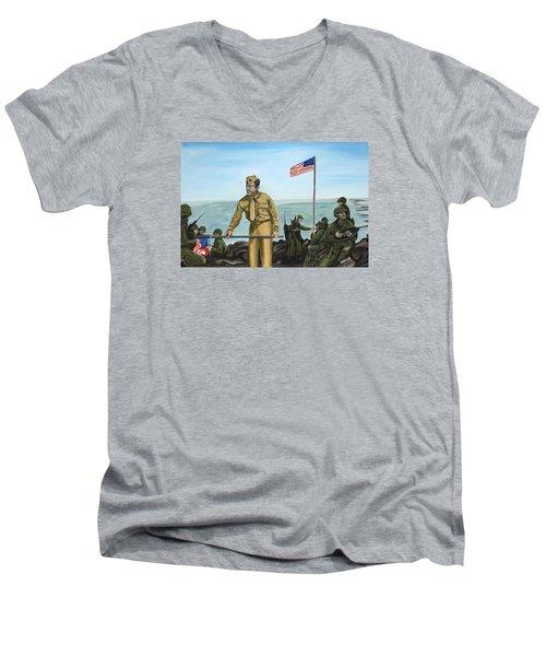 First Flag Raising Iwo Jima Men's V-Neck T-Shirt