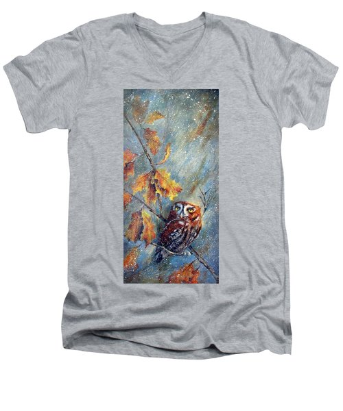 First Flurries Men's V-Neck T-Shirt by Mary McCullah