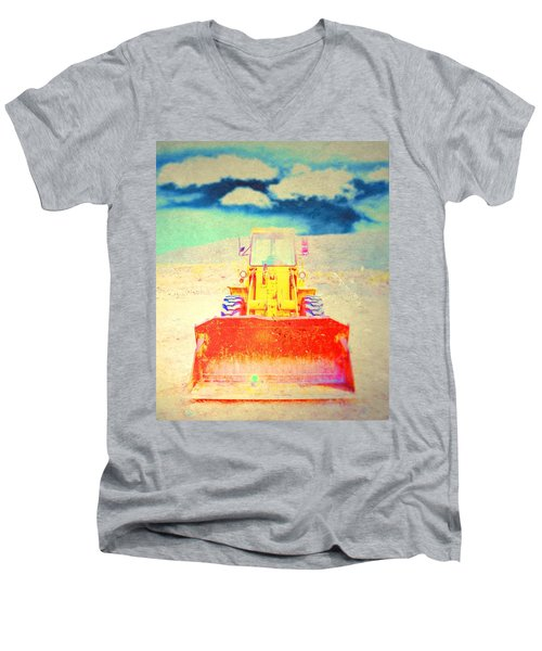 Men's V-Neck T-Shirt featuring the photograph First In  by Mark Ross