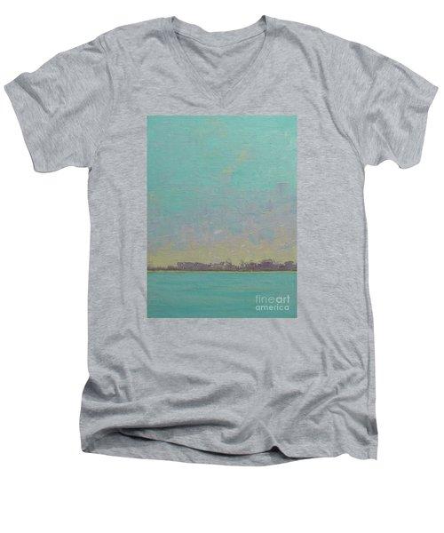 First Light Men's V-Neck T-Shirt by Gail Kent