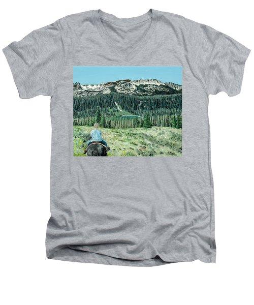 First Ride Men's V-Neck T-Shirt